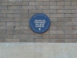 Photo of Francis MacKay Howze blue plaque