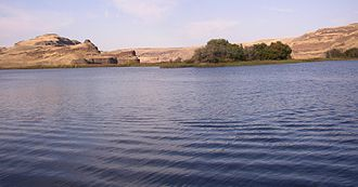 Palouse River - Palouse River entering the Snake at Lyon's Ferry near Starbuck, looking north in 2006
