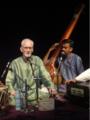 Pandit Arun Kashalkar in concert, Mukul Kulkarni on tanpura, Singapore, 2012.png