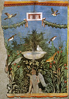 Pannello di pittura parietale da area vesuviana, miho museum, shiga 02