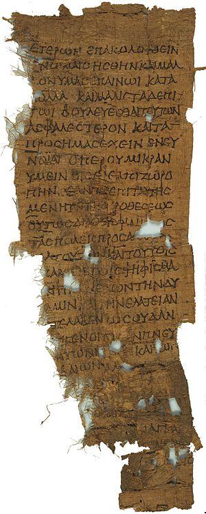 On the Crown - Demosthenes, De Corona 167–169. P. Oxy. 1377, 1st century BCE