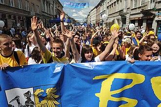 Symbols of the European Union - Image: Parada Schumana 2