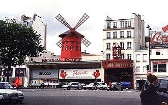 Boulevard de Clichy - The Moulin Rouge on the Boulevard de Clichy