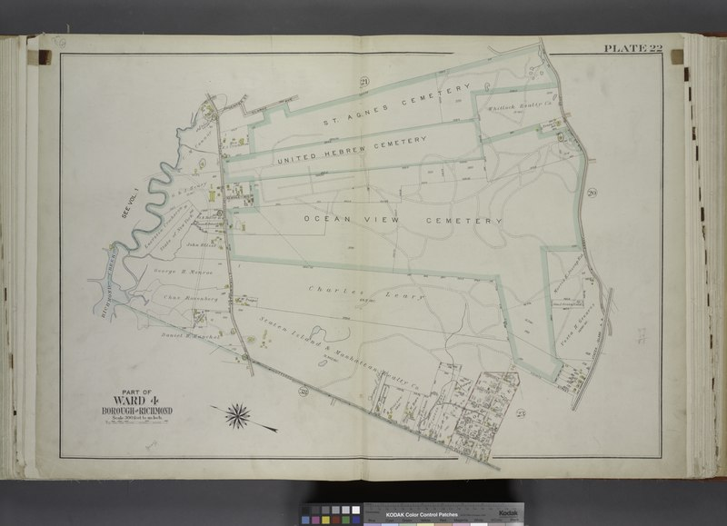 File:Part of Ward 4. (Map bound by Center St, Clarke Ave, St. Agnes Cemetery, Amboy Road, Staten Island R.R., Giffords Lane, Richmond Creek, Palmer Run, Arthur Kills Road (Fresh Kills RD)) NYPL1646289.tiff