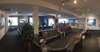 Montreal Saint-Hubert Longueuil Airport - Pascan Aviation's fixed-base operator lounge in the airport