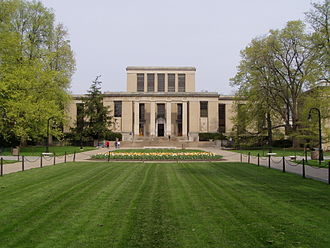Joe Paterno - The East wing of the Pattee Library (center) is connected to the Paterno Library (to right, not seen) at Penn State University.