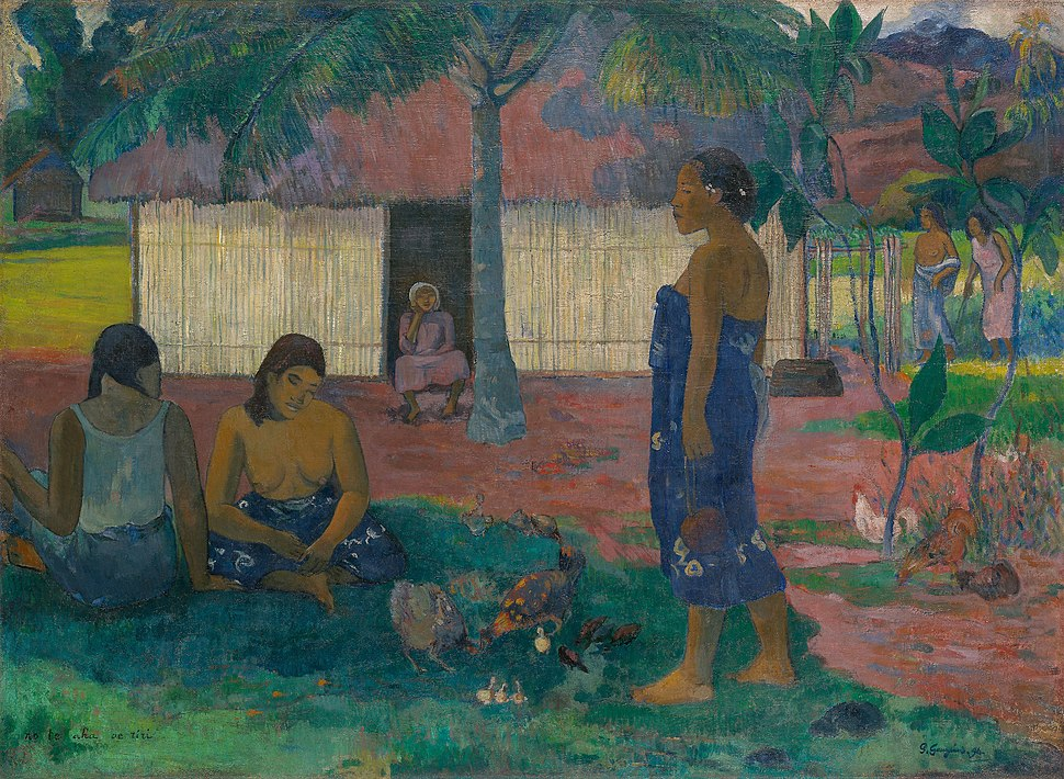 Paul Gauguin, No te aha oe riri (Why Are You Angry?), 1896, 1933.1119, Art Institute of Chicago