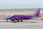 Peach Aviation ,MM177 ,Airbus A320-214 ,JA805P ,Departed to Nagasaki ,Kansai Airport (16800970611).jpg
