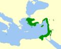 Pelophylax bedriagae Map.png