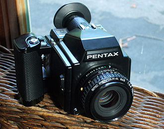 Pentax 645 - Pentax 645 with 75 mm normal lens