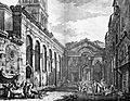 Peristyle of Diocletian's Palace in Split, Robert Adam, 1764 (cropped).jpg