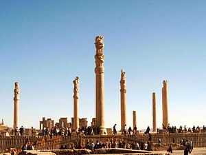The ruins of Persepolis, built 2500 years ago ...