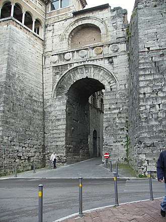 Perusia - Perugia, the Arch of Augustus