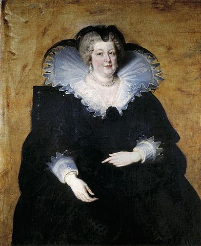 Портрет Марии Медичи. Около 1622, холст, масло, 130×112см. Музей Прадо