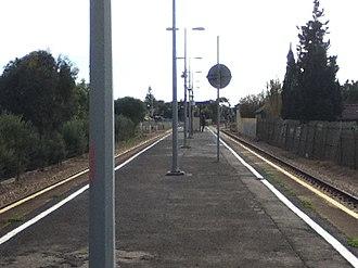 Peterhead railway station, Adelaide - Peterhead railway station in 2011