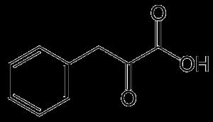 Phenylpyruvic acid - Image: Phenylpyruvic acid