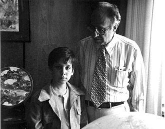 Philip Habib - Habib and grand nephew Gregory Cohen in his offices at the State Department in 1976