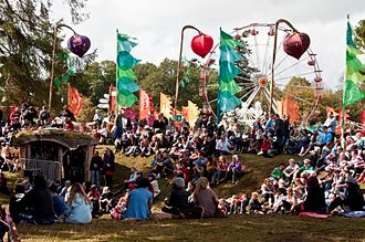 Electric Picnic - Image: Picture showing the crowd at the Body & Soul arena at Electric Picnic 2010