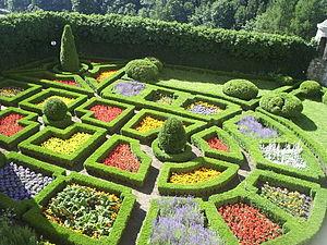 Renaissance garden in Pieskowa Skała, Poland