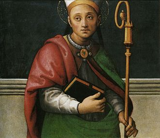 Herculanus of Perugia - Pietro Perugino, Sant'Ercolano, 1495-1500, Perugia, Galleria Nazionale dell'Umbria.