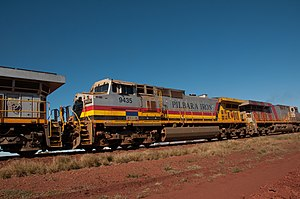 Hamersley & Robe River railway - GE Transportation Dash 9-44CW 9435 in August 2013