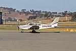 Piper PA-28-161 Cherokee Warrior II (VH-UNW) taxiing at Wagga Wagga Airport.jpg