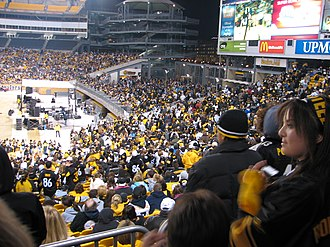 2008 Pittsburgh Steelers season - At the Super Bowl XLIII pep rally at Heinz Field.