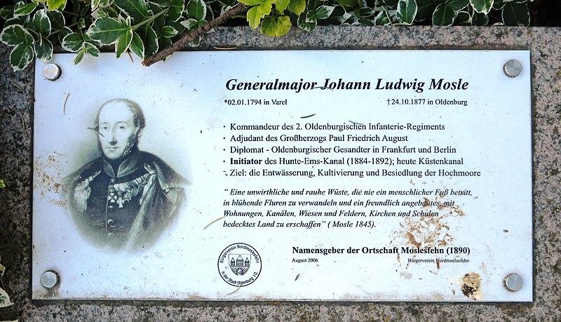 File:Plakette auf der Grabstelle von Johann Ludwig Mosle.JPG