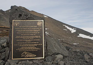 McMurdo Station - Nuclear reactor commemorative plaque