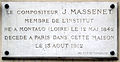 Plaque Jules Massenet, 48 rue de Vaugirard, Paris 6.jpg