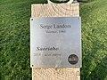 Plaque de la sculpture Saariaho (Serge Landois) - Parc Jouvet (Valence).jpg
