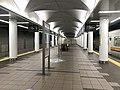 Platform of Cosmosquare Station (Chuo Line) 4.jpg