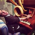 Playing the ridiculous piano - Mickey's House and Meet Mickey, Anaheim, California.jpg