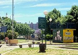 Plaza Mafalda, en el barrio porteño de Colegiales
