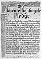 Pledge of Florence Nightingale. Wellcome L0008728.jpg