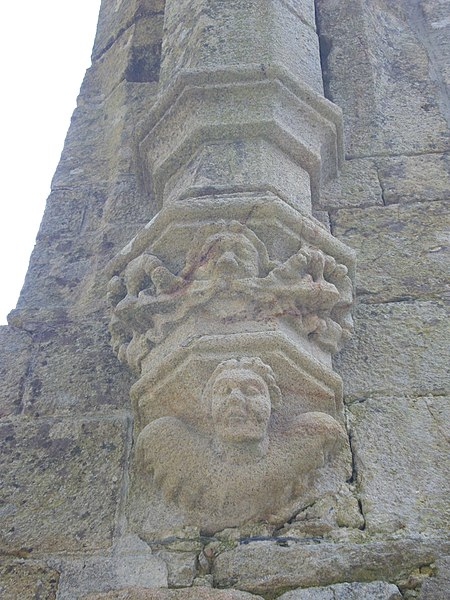 Ruins of Our Lady of Nettles chapel in Pluvigner (Morbihan, France). Cul-de-lampe