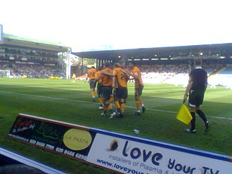 History of Plymouth Argyle F.C. - Plymouth's players celebrate a goal in the 1–2 win at Crystal Palace in 2008, which was scored by Paul Gallagher