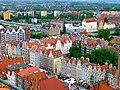 Polen - Danzig - Blick von der Marienkirche in Richtung Motlawa - Widok z kościoła Mariackiego w kierunku Motławy - panoramio.jpg