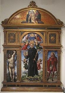 Vincenzo Civerchio e aiuti, Polittico di San Nicola da Tolentino, 1495.