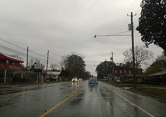 Pollocksville, North Carolina - U.S. Route 17 in Pollocksville, March 2015