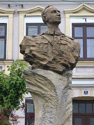 Warta, Poland - Image: Pomnik Skarżyńskiego Warta