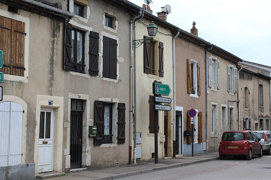"Pont-à-Mousson, a row of houses at the street ""Rue du Camp"""