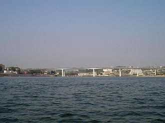 European route E01 - E01 passing at Ponte do Freixo, Porto.