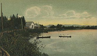Dummer, New Hampshire - Pontook Reservoir in 1908