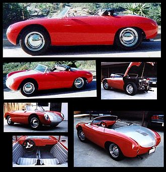 Kit car - Replica of Porsche 550 Spyder made from a kit