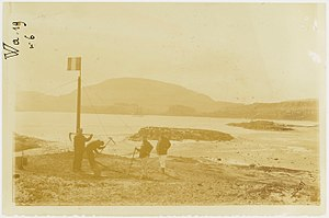 Kerguelen Islands - French sailors officially taking possession of the Islands on 8 January 1893