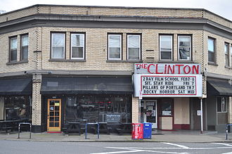 Clinton Street Theater - The theater's exterior in January 2015
