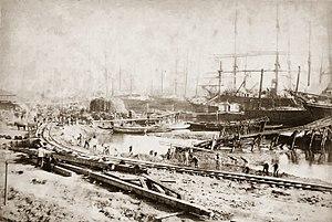 Marc Ferrez (photographer) - Port of Santos – São Paulo (Brasil) Marc Ferrez – 1870