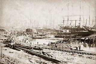 Port of Santos in 1870