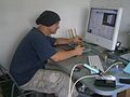 Portrait of teh artist geeking out. (2009-09-02 13.37.36 by c-g.).jpg